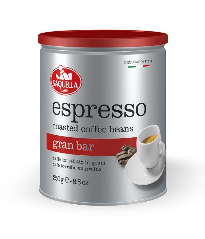Espresso Gran Bar plechovka Saquella