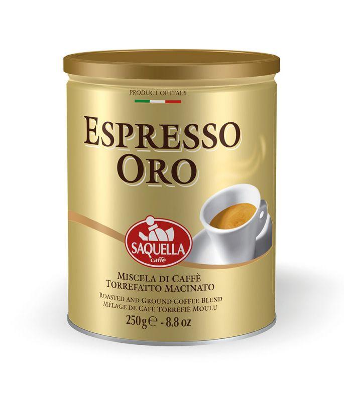 Espresso Oro plechovka Saquella